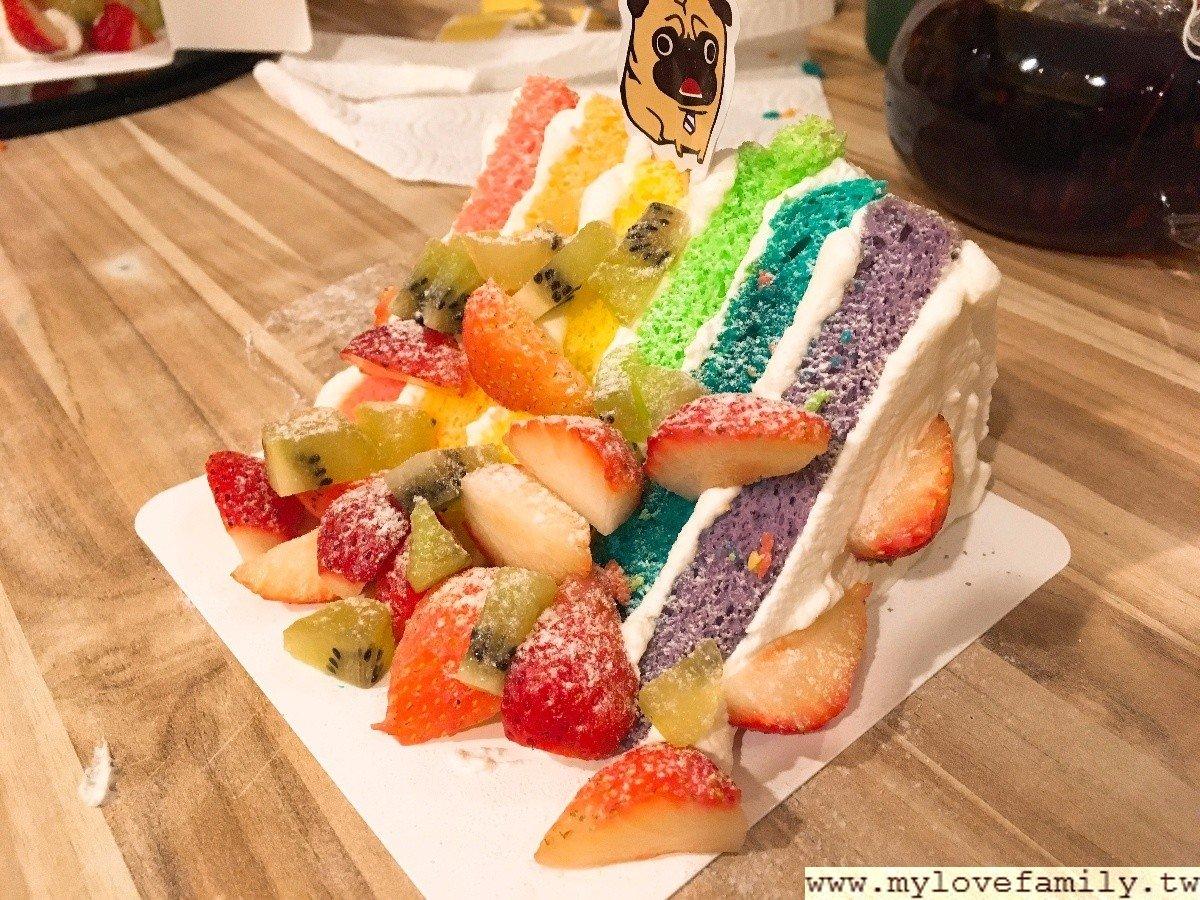 彩虹雲朵蛋糕
