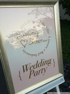 婚宴場地迎賓牌