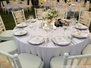 巴里島婚宴餐桌擺設