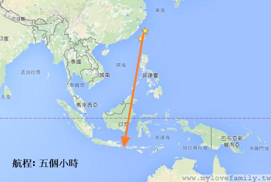 台灣到巴里島行程