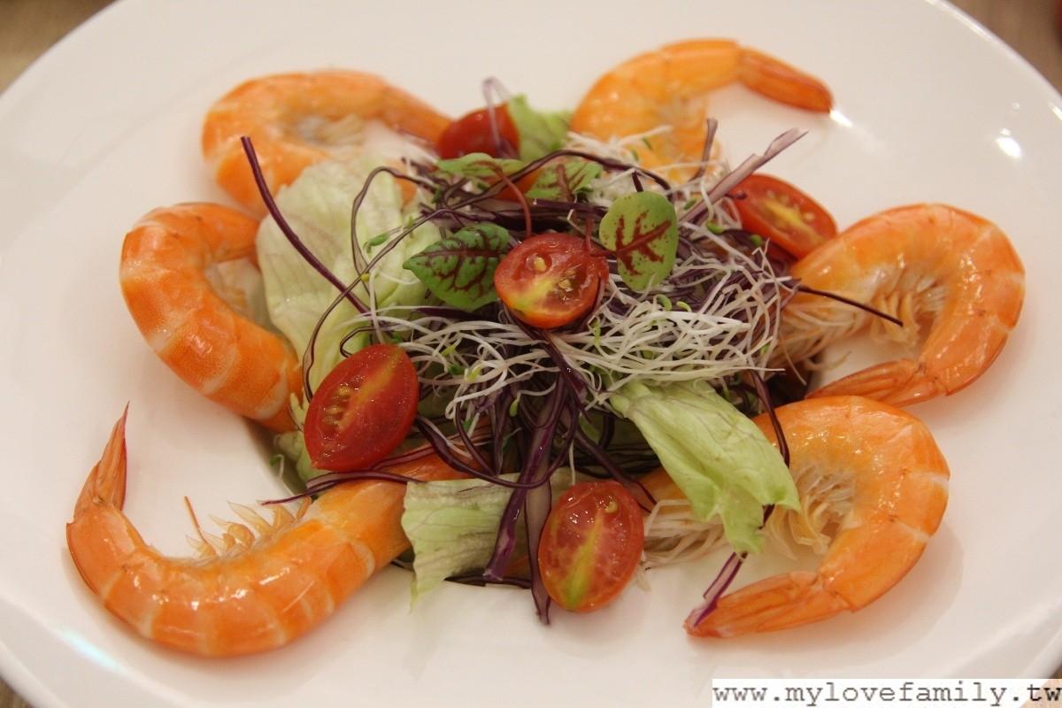 有夠蝦的鮮蝦生菜沙拉