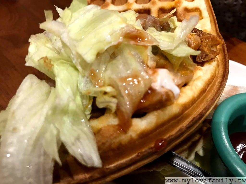 勁辣雞蔬菜鬆餅